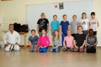 Karate Girls der Elisabethschule in Aktion